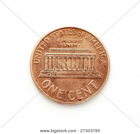One cent dollar coin