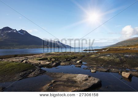 Norwegian coast landscape
