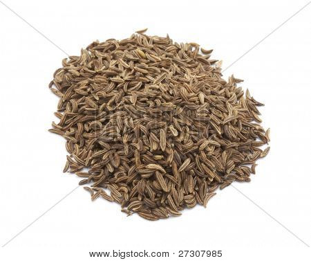 cumin seeds , indian spice,isolated on a white background.