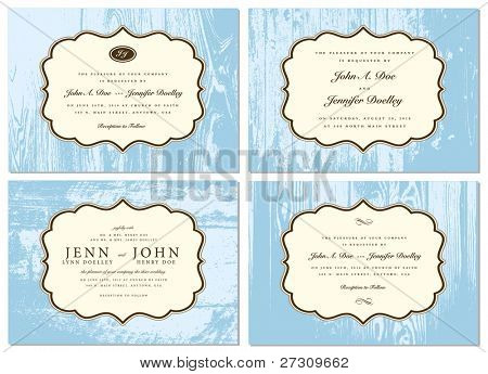 Vector Wooden Frame Set. Easy to edit. Perfect for invitations or announcements.