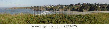Panoramic View Of Mendocino, California