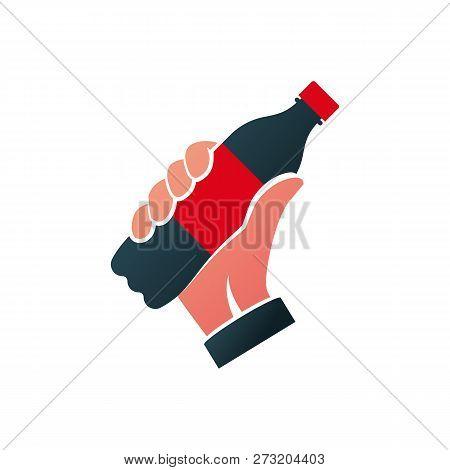 Icon Bottle Of Soda Black