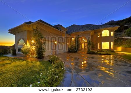 Luxury Home At Twilight