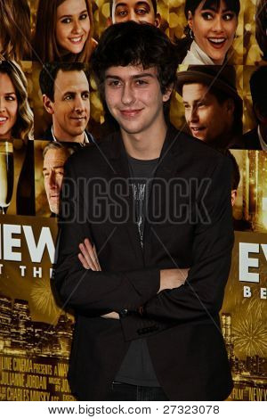Stock Photo: NEW YORK - DECEMBER 07: Nat Wolff attends 'New Year's Eve' premiere at Ziegfeld Theatre during Tribeca Film Institute Annual Benefit Gala on December 7, 2011 in New York City, NY