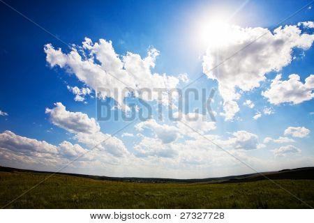 Beautiful blue sky landscape