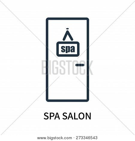 poster of Spa Salon Icon Isolated On White Background. Spa Salon Icon Simple Sign. Spa Salon Icon Trendy And M