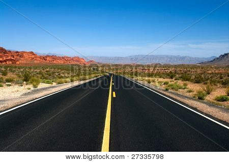 Road in Valley of Fire National Park, Nevada