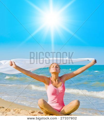 Pure Exercising On a Beach