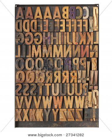 Vintage Letterpress Printing Blocks