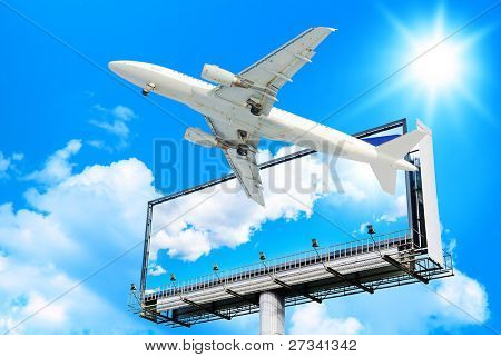 Plane Flying High Above