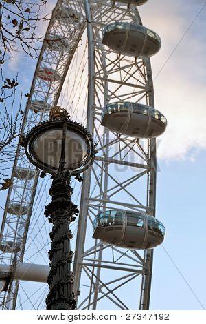 London Eye and south bank light