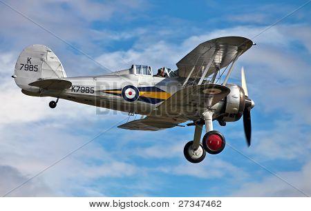 Gloster Gladiator landing