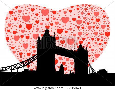 Tower Bridge With Hearts (Replacing: 2629897)