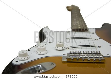 Electric Guitar, Focused On Bridge Pickup And Volume Knob
