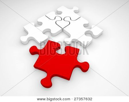 Isolated Jigsaw Puzzle Pieces