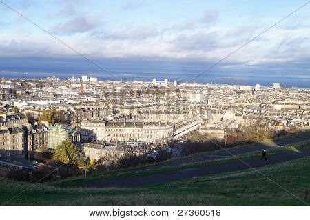 Arial view edinburgh