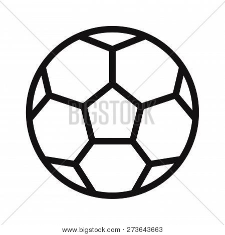 Soccer Ball Icon Isolated On