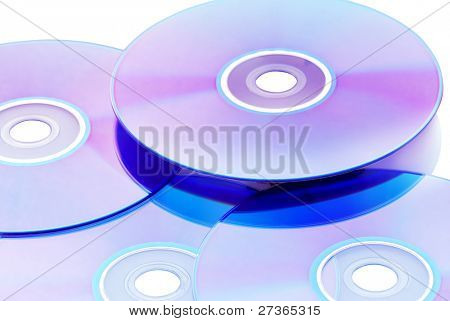 Bright CD/DVD/VCD on the white background