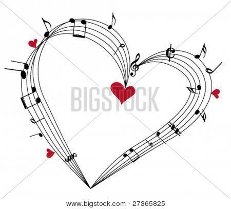 "Valentine music concept,""Love Music"""
