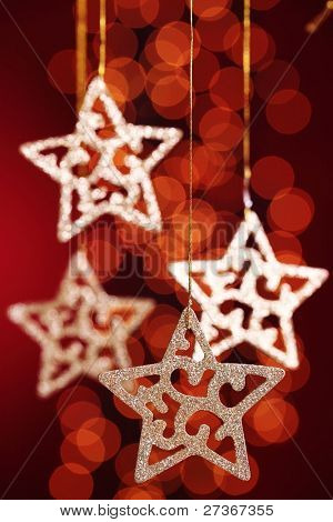 Gold stars  over festive  background