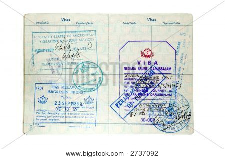 Immigration And Customs Stamps