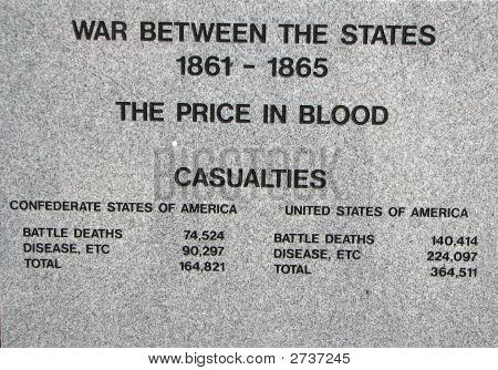 Civil War Plaque