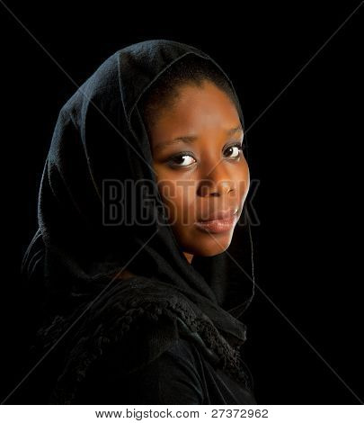 Beautiful African Ghanese woman in melancholic mood