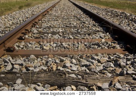 Closeup Railroad Tracks