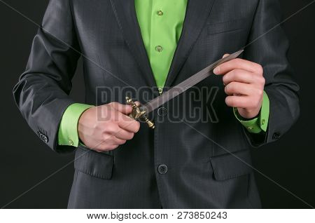 Dagger Knife In A Gangster