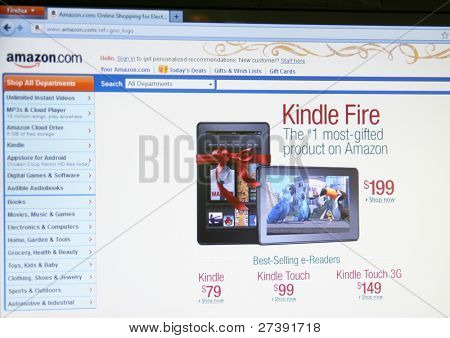 SEATTLE WA - DEC 8: Amazon's Kindle Fire, a reader tablet, will likely still be a hit despite middling reviews, says Morgan Stanley analyst on Dec 8, 2011 in Seattle, Washington
