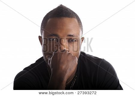 Thinking Young Black Man
