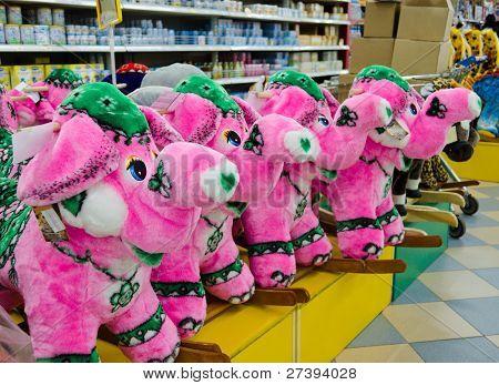 Soft Toy - A Pink Elephant