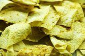 Homemade Potato Chips, Close Up. Homemade Food poster
