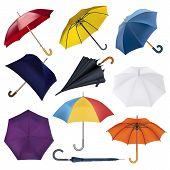 Umbrella Vector Umbrella-shaped Rainy Protection Open And Colorfull Parasol Accessory Illustration S poster