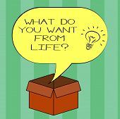 Handwriting Text Writing What Do You Want From Lifequestion. Concept Meaning Express The Things You  poster