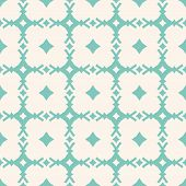 Turquoise Geometric Seamless Pattern. Vector Abstract Ornamental Texture With Diamond Shapes, Rhombu poster