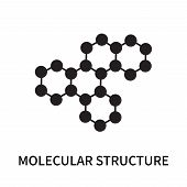 Molecular Structure Icon Isolated On White Background. Molecular Structure Icon Simple Sign. Molecul poster