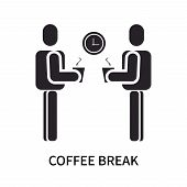 Coffee Break Icon Isolated On White Background. Coffee Break Icon Simple Sign. Coffee Break Icon Tre poster