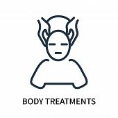 Body Treatments Icon Isolated On White Background. Body Treatments Icon Simple Sign. Body Treatments poster