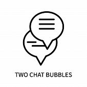 Two Chat Bubbles Icon Isolated On White Background. Two Chat Bubbles Icon Simple Sign. Two Chat Bubb poster