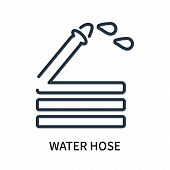 Water Hose Icon Isolated On White Background. Water Hose Icon Simple Sign. Water Hose Icon Trendy An poster
