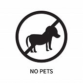 No Pets Icon Isolated On White Background. No Pets Icon Simple Sign. No Pets Icon Trendy And Modern  poster