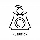Nutrition Icon Isolated On White Background. Nutrition Icon Simple Sign. Nutrition Icon Trendy And M poster