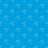 Rc Helicopter Pattern Seamless Blue Repeat For Any Use poster
