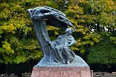 picture of chopin  - A statue of Frederic Chopin the polish composer in a park in Warsaw Poland - JPG