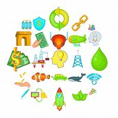 Ecology Care Icons Set. Cartoon Set Of 25 Ecology Care Icons For Web Isolated On White Background poster