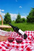 Постер, плакат: Параметр Открытый пикник с вином