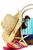 picture of beach hat  - Beach Bag with Towel - JPG
