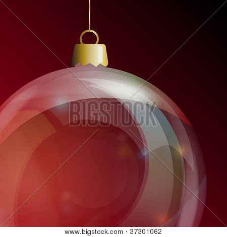 Detail of glass Christmas bauble. Also available in vector format.