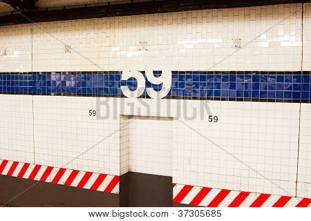 59Th Street Subway Station, New York